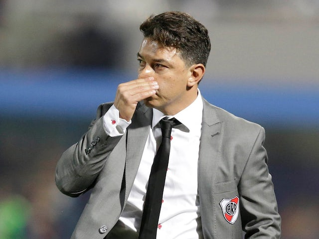 River Plate coach Marcelo Gallardo pictured on August 29, 2019