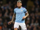 Nicolas Otamendi in action for Manchester City on October 1, 2019