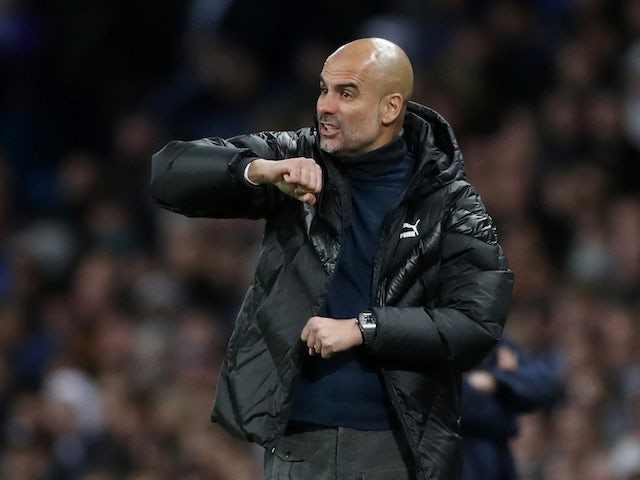 Man City boss Pep Guardiola gives orders on October 1, 2019