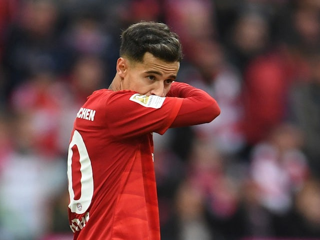 Philippe Coutinho in action for Bayern Munich on October 5, 2019