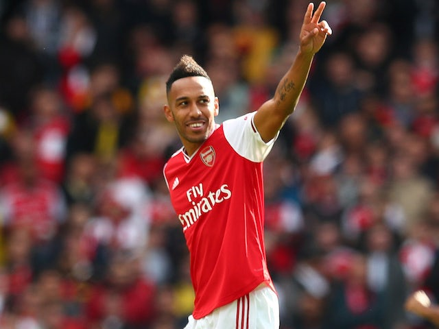 Pierre-Emerick Aubameyang in action for Arsenal on October 6, 2019