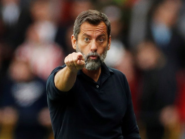 Watford boss Quique Sanchez Flores spots the camera on October 5, 2019