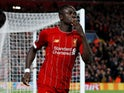 Liverpool's Sadio Mane celebrates scoring their first goal against Red Bull Salzburg on October 2, 2019