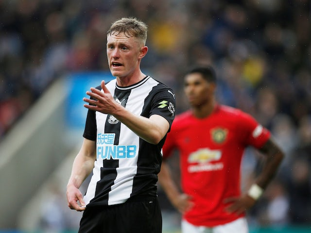 Newcastle United's Sean Longstaff in action against Manchester United in the Premier League on October 6, 2019