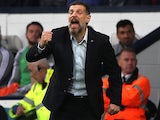 Slaven Bilic in charge of a Championship side on October 5, 2019