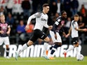 Tom Lawrence in action for Derby County on October 5, 2019
