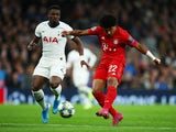 Bayern Munich's Serge Gnabry shoots at goal during the match against Tottenham Hotspur on October 1, 2019