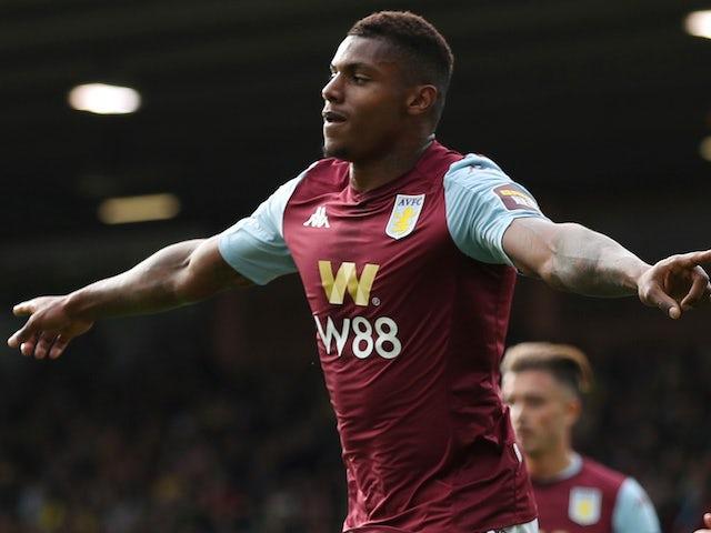 Wesley Moraes celebrates scoring for Aston Villa on October 5, 2019
