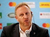 World Rugby Chief Operating Officer and Tournament Director Alan Gilpin during a press conference at the Rugby World Cup on October 10, 2019