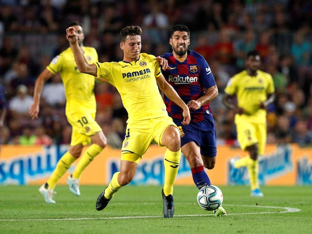 Villarreal's Pau Torres in action against Barcelona in La Liga on September 24, 2019