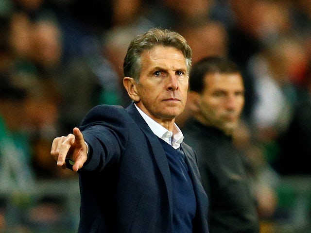 Claude Puel in charge of Saint-Etienne on October 6, 2019