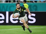 South Africa's Cobus Reinach scores their third try against Canada on October 8, 2019