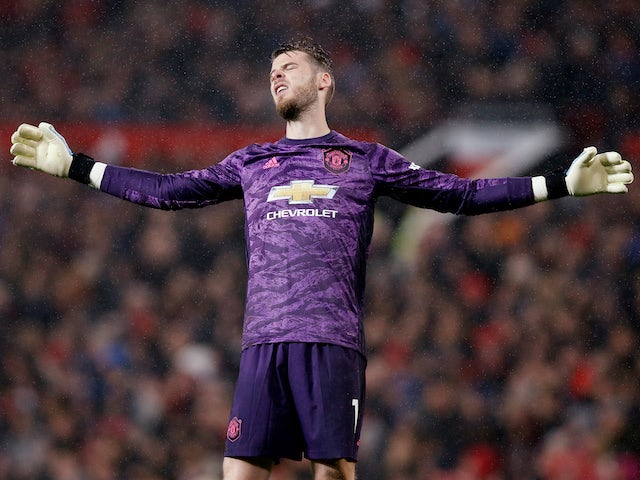 David de Gea in action for Manchester United on September 30, 2019