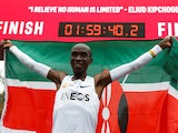 Eliud Kipchoge runs a sub-two hour marathon on October 12, 2019