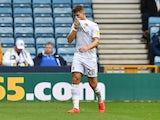 Leeds United's Gaetano Berardi leaves the pitch after being sent off on October 5, 2019