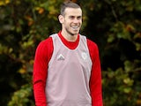 Gareth Bale during a Wales training session on October 12, 2019
