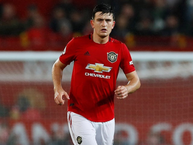 Harry Maguire in action for Manchester United on September 30, 2019