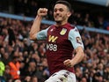 John McGinn celebrates scoring for Aston Villa on September 28, 2019