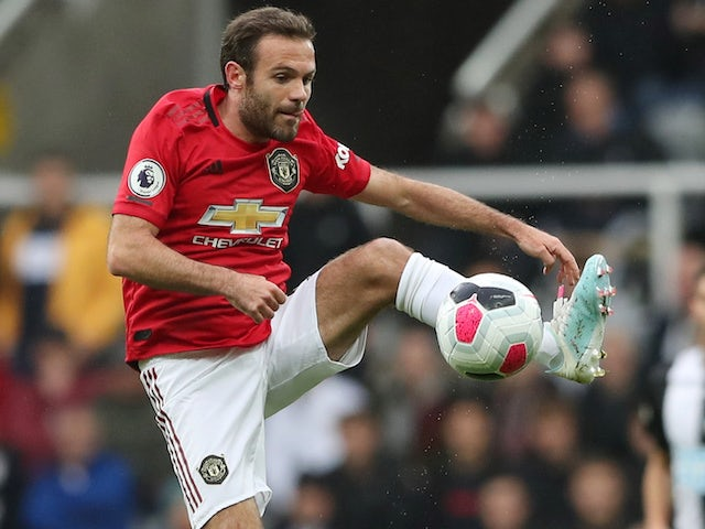 Juan Mata in action for Manchester United on October 6, 2019