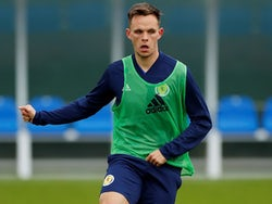 Lawrence Shankland during Scotland training on October 7, 2019