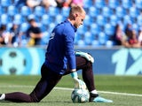 Barcelona goalkeeper Marc-Andre ter Stegen pictured ahead of a La Liga match in September 2019