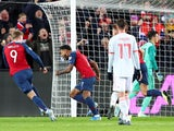 Joshua King scores for Norway on October 12, 2019