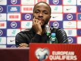 Raheem Sterling talks to the media on October 10, 2019