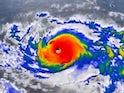 Typhoon Hagibis in action on October 6, 2019