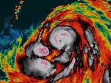 Typhoon Hagibis in action on October 8, 2019
