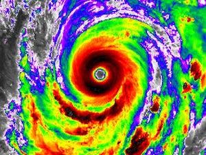 Typhoon Hagibis in action on October 9, 2019