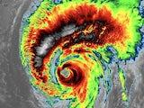 Typhoon Hagibis in action on October 11, 2019