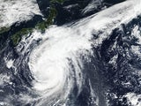 Typhoon Hagibis in action on October 12, 2019