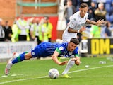 Ben White in action for Leeds United against Wigan Athletic in the Championship on August 17, 2019