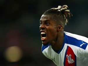 Wilfried Zaha in action for Crystal Palace on October 5, 2019