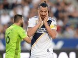 Zlatan Ibrahimovic in action for LA Galaxy on September 29, 2019