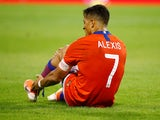 Alexis Sanchez in action for Chile on October 12, 2019