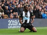 Allan Saint-Maximin reacts to a missed chance during the Premier League game between Chelsea and Newcastle United on October 19, 2019