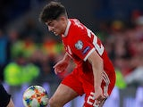 Daniel James in action for Wales on October 13, 2019