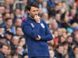 Huddersfield manager Danny Cowley watches the action on October 19, 2019