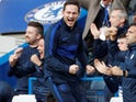 Chelsea manager Frank Lampard celebrates on October 19, 2019