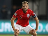 Harry Kane in action for England on October 14, 2019