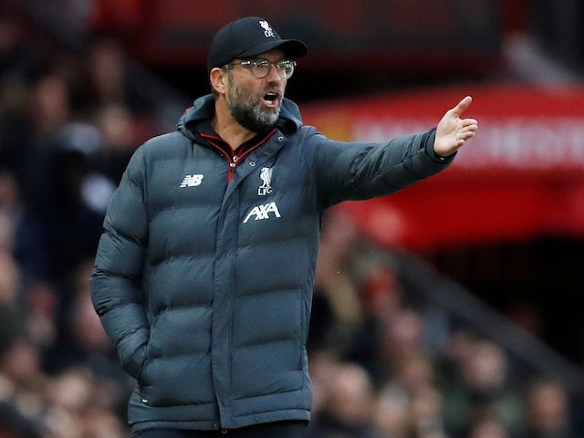 Liverpool manager Jurgen Klopp on October 20, 2019