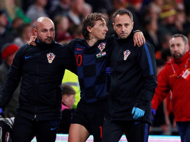 Luka Modric facing a few weeks out injured