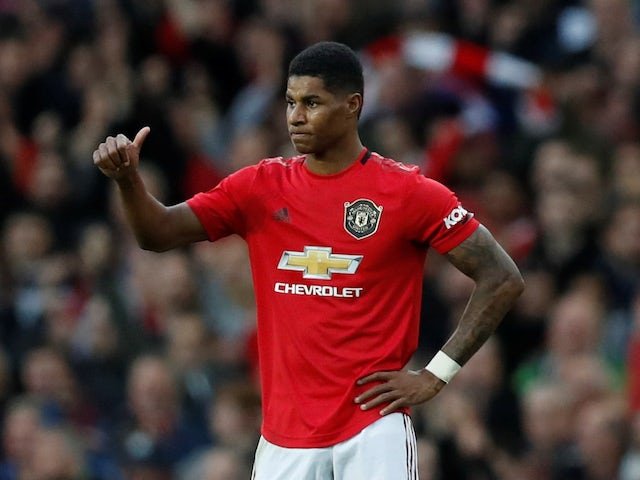 Marcus Rashford in action for Manchester United on October 20, 2019