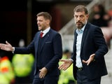 Middlesbrough manager Jonathan Woodgate and West Bromwich Albion manager Slaven Bilic on October 19, 2019