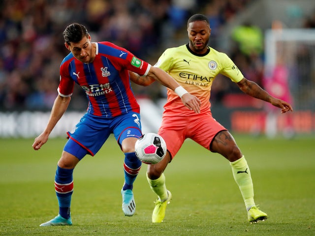 Manchester City's Raheem Sterling in action with Crystal Palace's Joel Ward on October 19, 2019