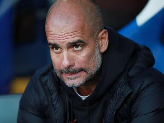 Manchester City manager Pep Guardiola before the match against Crystal Palace on October 19, 2019