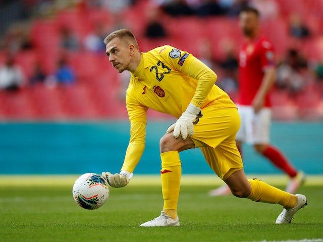 Plamen Iliev in action for Bulgaria on September 7, 2019