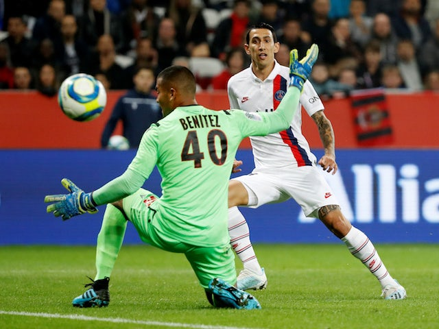 Result: Angel Di Maria stars as PSG cruise past nine-man Nice
