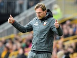Ralph Hasenhuttl celebrates Southampton's VAR-assisted draw at Wolves on October 19, 2019